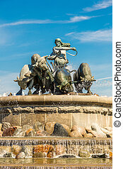 The Gefion fountain in Copenhagen - The Gefion fountain is...