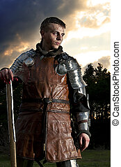Portrait of a Knight in the blood