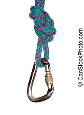 hanging hook with rope on white background