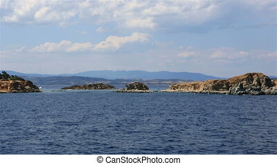 Coast of the peninsula Athos Northern Greece