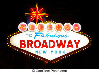 Welcome to Broadway sign