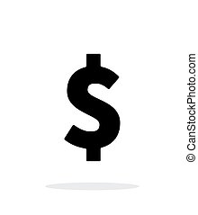 Dollar icon on white background. Vector illustration.