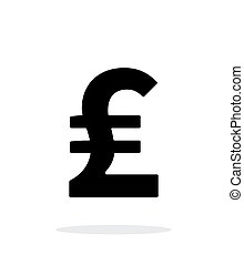 Pound sterling icon on white background. Vector...