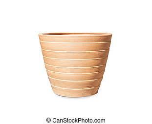 Clay pots, vases isolated on white background