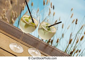 estate, HUGO, bevanda, Ghiaccio, soda, prosecco, elderflower...