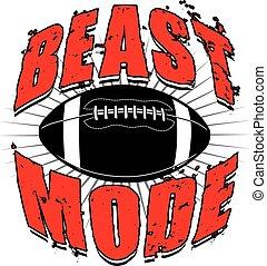 Football Beast Mode - Illustration of a football design...