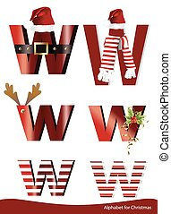 alphabet with christmas ornament - Vector alphabet with...