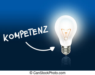 Kompetenz Bulb Lamp Energy Light blue Idea Background