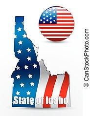 USA State Map Idaho