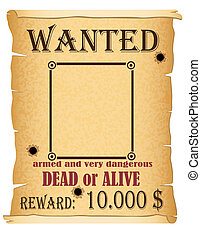 announcement wanted criminal poster illustration isolated on...