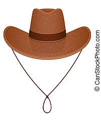 cowboy hat illustration isolated on white background