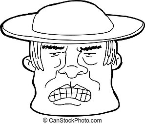 Outline of Man in Hat