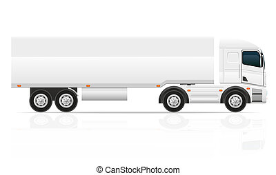 big truck tractor for transportation cargo illustration...