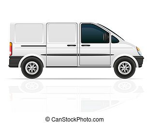 van for the carriage of cargo illustration