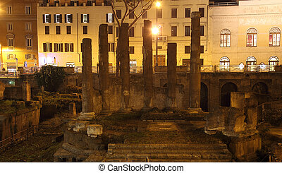 Area Sacra Roman Temple - area sacra Roman ancient ruins in...