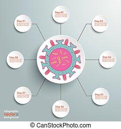 Virus Infographic 8 Steps