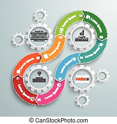 8 Gears Cycle 8 Options Gear Infographic - Cycle infographic...