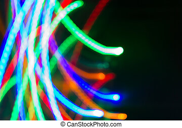 De Focus of Neon light Blurred background