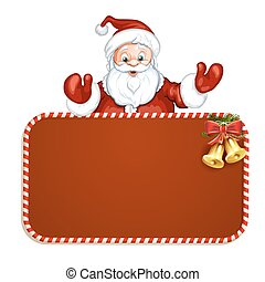 Santa Claus with red blank sign