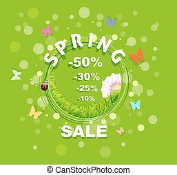 Spring Sale discount background