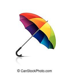 Colorful umbrella isolated on white vector