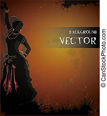 belly dancing vector background