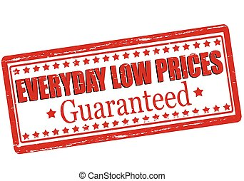 Everyday low prices - Rubber stamp with text everyday low...