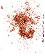 Face powder isolated on white background