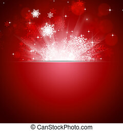 Christmas Snow Blow Red Card - abstract christmas snow and...