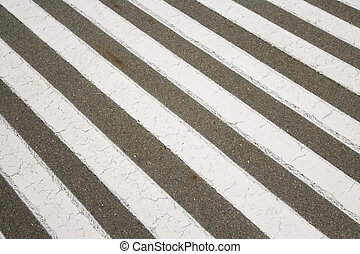 Crosswalk, zebra crossing, for background