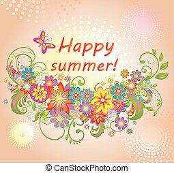 Summery greeting card