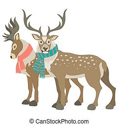 Two cute reindeers