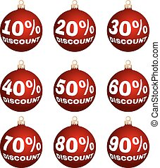 christmas discount labels - Set of nine vector discount...