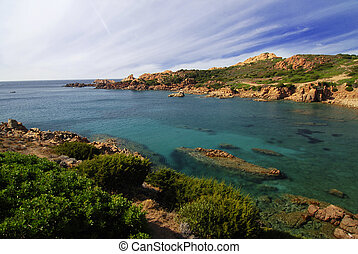 Beautiful bay on Sardinia - Beautiful bay with turquoise...