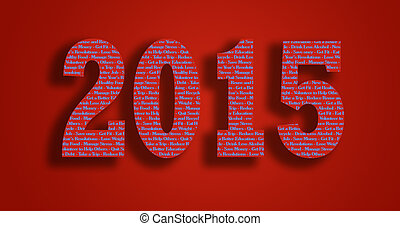 2015 creative typography resolution fot better life