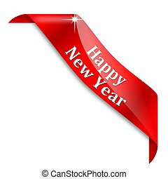 Happy New Year - Red corner with the inscription Happy New...
