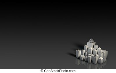 Premium Property Background in 3d Art Abstract