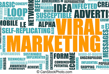 Viral Marketing Online Campaign as a Background
