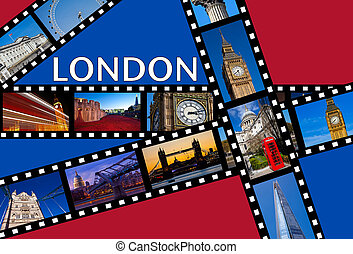 LONDON Film Strips - Film strips depicting images of famous...