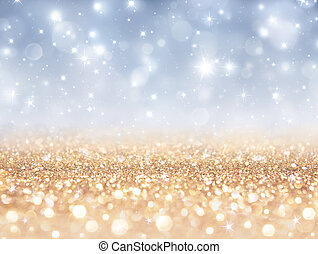 sparkling backdrop - gold and silver for christmas and new...