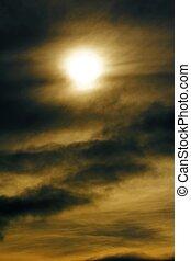 sun with cloudy sky