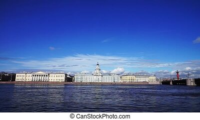 View at Kunstkamera museum, St. Petersburg, Russia - Neva...
