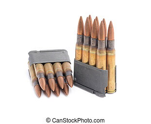 M1 Garand clips and ammunition - World War II M1 Garand...