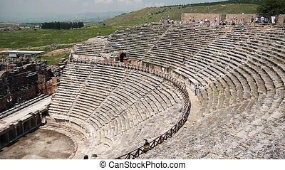 Panoramic View Of An Ancient Amphitheater - Panoramic view...