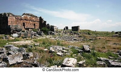 Ruins Of The Ancient Amphitheater - The ruins of the ancient...