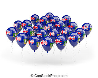 Balloons with flag of british virgin islands