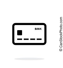 Debit card icon on white background. Vector illustration.
