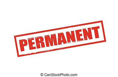 Permanent - Rubber stamp with word permanent inside, vector...