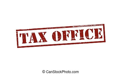 Tax office - Rubber stamp with text tax office inside,...
