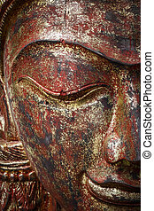 Face of wood carving